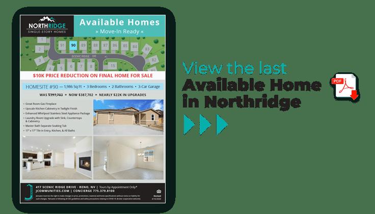 Northridge Final Home for Sale
