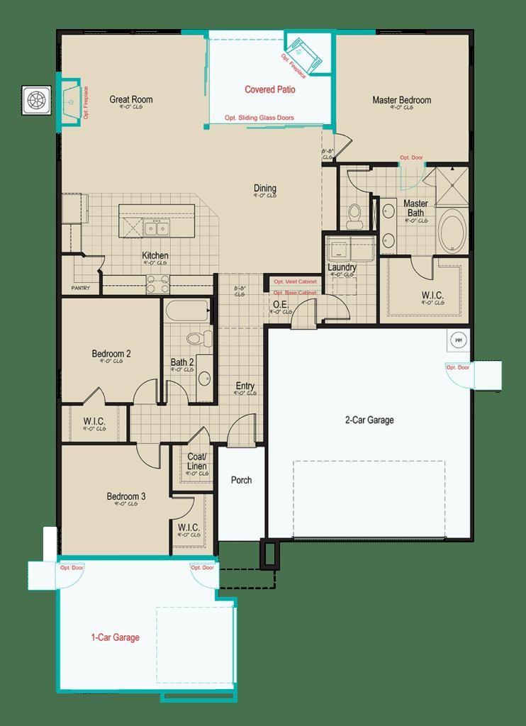 Blackstone • Floorplan • Plan 2-1739