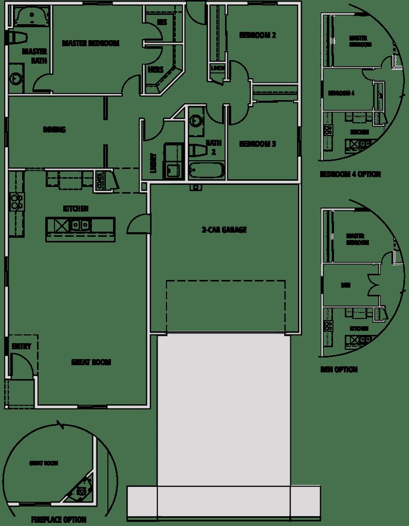 Ponderosa floorplan 3
