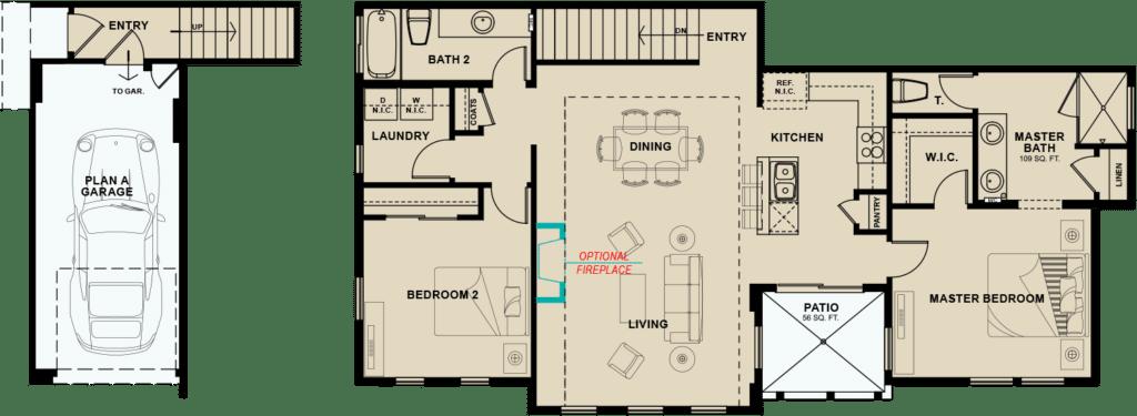 Village-South-Plan-1-1309-floorplans-options
