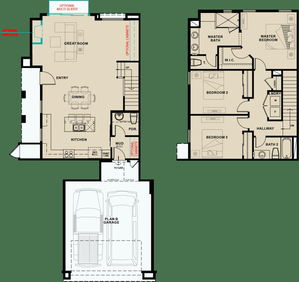 Village-South-Plan-2-1654-floorplan-options
